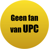 Geen fan van UPC !
